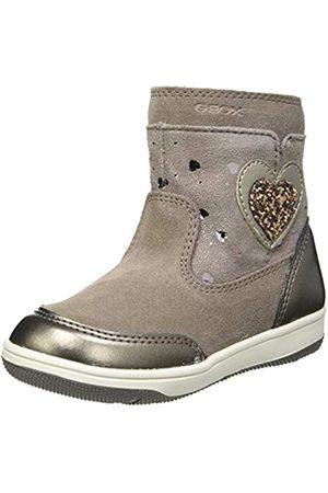 Geox Geox Baby-Mädchen B NEW FLICK GIRL B Mid Calf Boot, Brown (Smoke Grey)