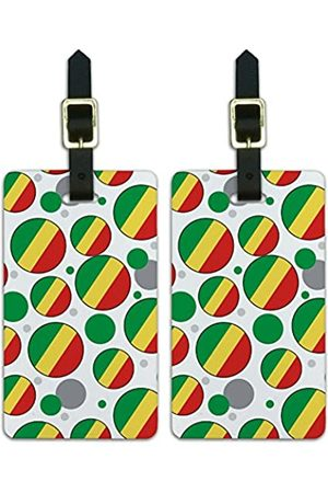 Graphics and More Graphics & More Os-Republic of The Congo Nationalflagge (Weiß) - Luggage.Tags.09730