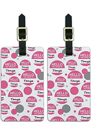 Graphics and More Graphics & More TA-ti-Tanya Hello My Name is (Weiß) - Luggage.Tags.12779