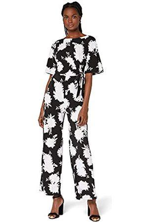 TRUTH & FABLE Amazon-Marke: Damen Kurzärmeliger Abend-Jumpsuit aus Jersey, 44