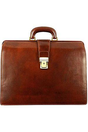Time Resistance Herren Leder Aktentasche Aktenkoffer 15 Zoll Laptoptasche Arbeitstasche Bürotasche Lehrertasche Notebooktasche Businesstasche