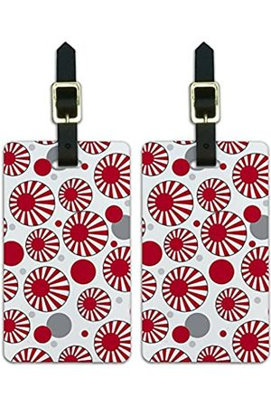 Graphics and More Graphics & More J-n-Japan Sun Rising Nationalflagge (Weiß) - Luggage.Tags.09759