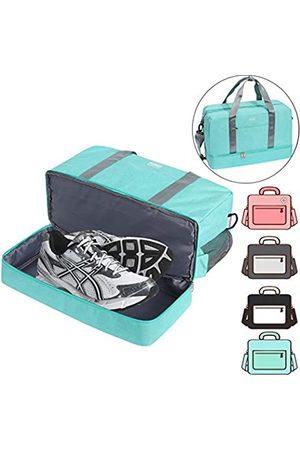 ACECHA Turnbeutel Schuhfach Schultertasche Reisetasche Seesack Schwimmtasche für Damen und Herren (Hellblau XL)