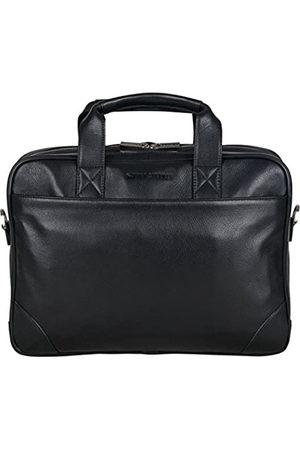"Ben Sherman Unisex-Erwachsene Leather Double Compartment Top Zip 15.0"" Computer Case Business Portfolio Laptop-Tasche"