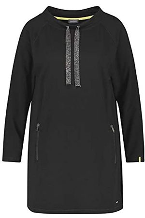 Samoon Damen Langes Sweatshirt leger Black 42