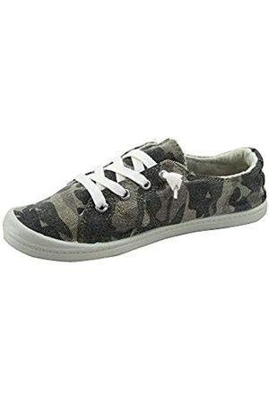 Generic Soda Zig-s Damen Causal Flacher Absatz Slip On Lace Up Look Sneaker Schuhe, (camouflage)