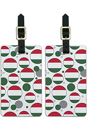Graphics and More Graphics & More C-i-Ungarn Nationalflagge (Weiß) - Luggage.Tags.09597