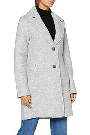 TOM TAILOR Damen Leichter Wintermantel Jacke, 24050-mid Grey Melange