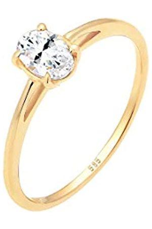 Elli Elli PREMIUM Ring Damen Verlobungsring Valentin Liebe Topas in 585 Gelbgold