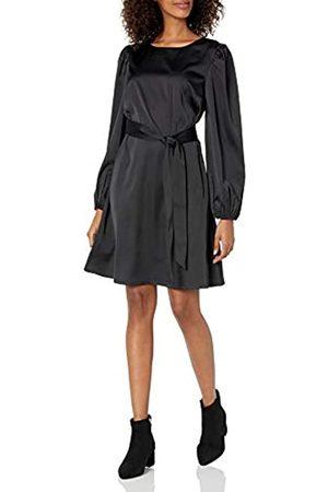 THE DROP Stretch-Kleid für Damen, seidiger Stoff, mit Gürtel, von @shopdandy
