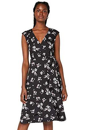 TRUTH & FABLE Amazon-Marke: Damen Wickelkleid aus Jersey, 34