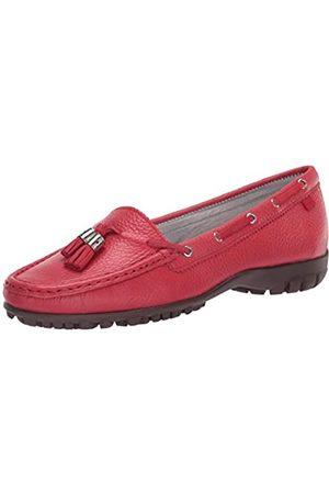 Marc Joseph New York Damen Leder Made in Brazil Spring Street Golf Schuh, Rot (Strawberry Getrommelkorn)