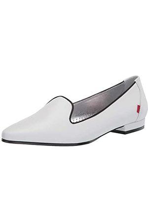 Marc Joseph New York Damen Luxus Flache Leder mit Raucher-Slipper Detail Loafer, Weiá (Weich Nappa)