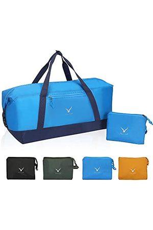 Hynes Eagle Hynes Eagle 35L Reisetasche Faltbar Sport Duffles Gym Bag Outdoor Weekender Tasche für Damen und Herren (Blau) - HE0923-2
