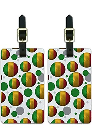 Graphics and More Graphics & More Futbol Football Country Z-Mali Flag Fußball (Weiß) - Luggage.Tags.09807
