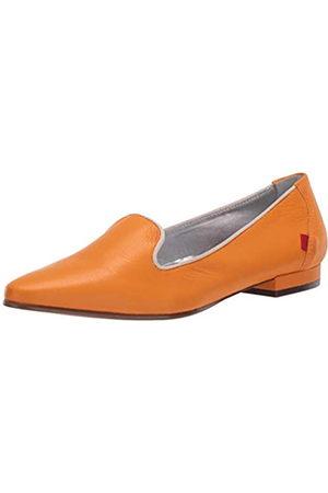 Marc Joseph New York Damen Luxus Flache Leder mit Raucher-Slipper Detail Loafer, ( Nappa Soft)