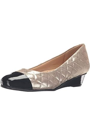 FrenchTrotters Women's Langley Dress Pump, Gold/Black