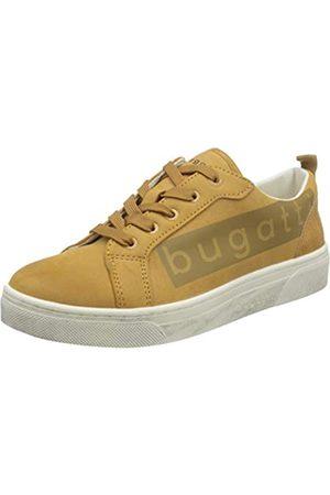 Bugatti Damen 432877085558 Sneaker, Yellow/Reptile Print