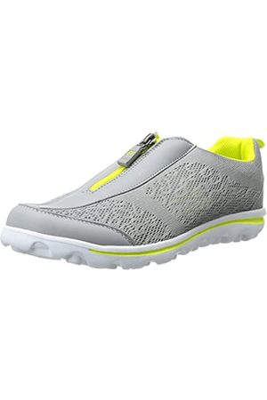 Propet Propet Women's TravelActiv Zip Walking Shoe, Silver/Lime