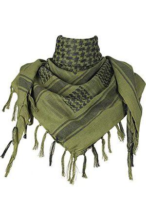 Explore Land Schal aus Baumwolle mit Shemagh-Motiv - Grün - Einheitsgröße