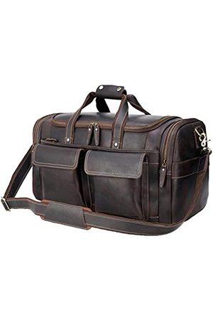 POLARE ORIGINAL Polare Reisetasche aus dickem Rindsleder, 57,9 cm, Retro-Stil
