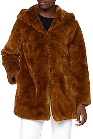 Urban classics Damen Teddyjacke Plüsch Mantel Fleece-Ladies Hooded Teddy Faux Fur Coat