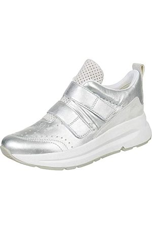 Geox Damen D BACKSIE B Sneaker, (Silver/White C0434)