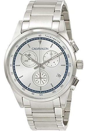 Calvin Klein Herren Analog Quarz Uhr mit Edelstahl Armband KAM27146