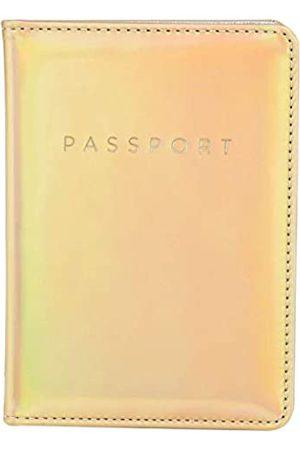leminimo Leminimo Reisepasshülle aus PU-Leder mit RFID-Blockierung – Reisepasshülle (Gold) - LMPH-MGold
