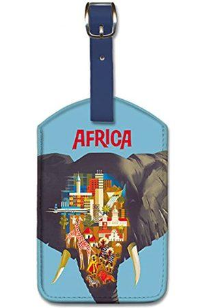 Pacifica Island Art Pacifica Island Art Gepäckanhänger aus Kunstleder – Afrika Elefant von Pulford