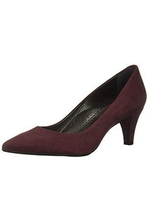 Marc Joseph New York Damen Leder Made in Brazil 2,25 Zoll Heel Point Pump, Violett (Weinnubuk)