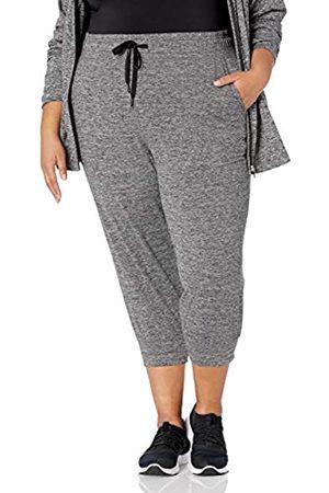 Amazon Damen Plus Size Brushed Tech Stretch Crop Jogger Pants Hose