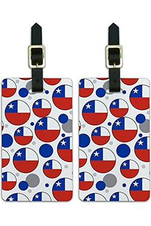 Graphics and More Graphics & More C-Chile Nationalflagge (Weiß) - Luggage.Tags.09556