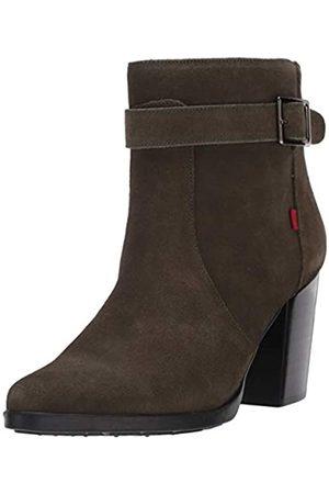Marc Joseph New York Damen-Stiefel aus Leder mit seitlichem Reißverschluss und Schnalle, Grn (Olives Wildleder)