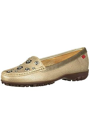 Marc Joseph New York Damen Leder Made in Brazil Mott Street Golf Schuh, (Goldmetallische Maserung)
