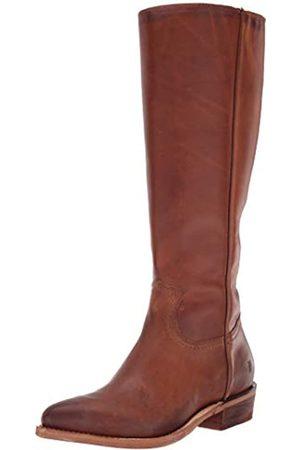 Frye Women's Billy Inside Zip Tall Western Boot, Caramel Extended