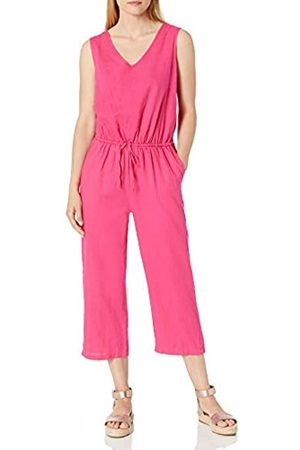 Amazon Damen Jumpsuits - Sleeveless Linen Jumpsuits-Apparel
