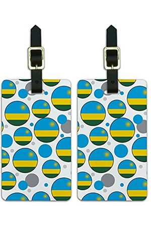 Graphics and More Graphics & More O-s-Ruanda Nationalflagge (Weiß) - Luggage.Tags.09672