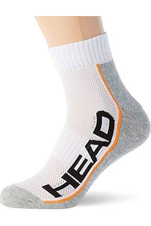 Head Unisex-Adult Performance Quarter (2 Pack) Tennis Socks, White/Grey