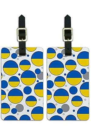 Graphics and More Graphics & More T-z-Ukraine Nationalflagge (Weiß) - Luggage.Tags.09749