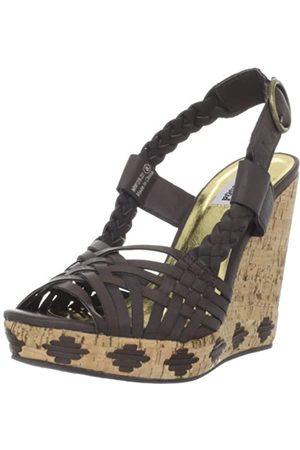 Not Rated Damen Sandale Horchata Keilsandale, Braun (schokoladenbraun)