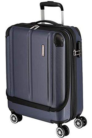 Elite Models' Fashion Travelite 4-Rad Handgepäck Koffer mit Vortasche erfüllt IATA Bordgepäckmaß, Gepäck Serie CITY: Robuster Hartschalen Trolley mit kratzfester Oberfläche, 073046-20, 55 cm