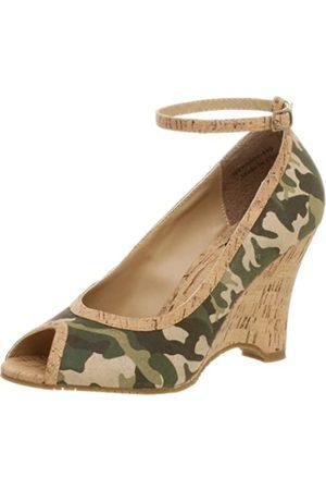 Not Rated Melissa Peep Toe Wedge für Damen, Mehrere (Camouflage)