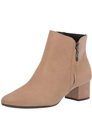 Marc Joseph New York Damen Leather Block Heel with Zipper Detail Spruce Street Bootie Stiefelette