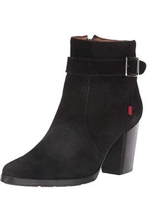 Marc Joseph New York Damen-Stiefel aus Leder mit seitlichem Reißverschluss und Schnalle, Schwarz (Schwarze Velourslederoptik)