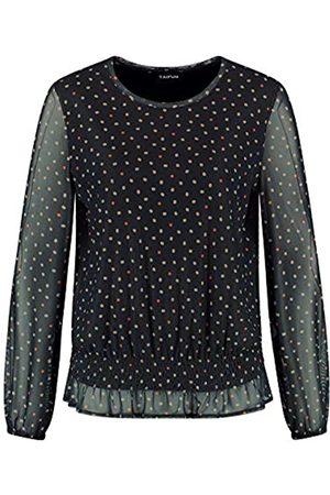 Taifun Damen Shirts - Damen Blusenshirt mit Dots-Allover leger 36