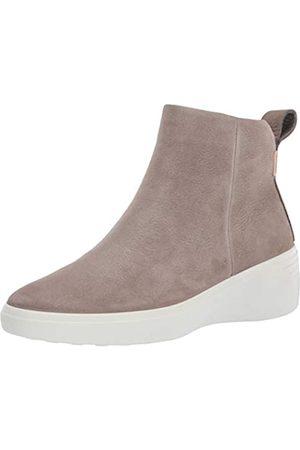 Ecco Damen Soft 7 Wedge Diffuse Stiefelette, ( Warm Grey)