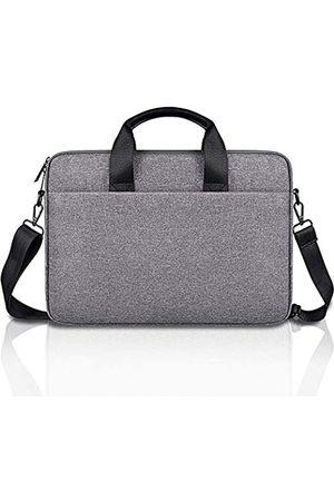 D.YMQGG Laptop-Schultertasche, Laptop-Hülle mit Schultergurten und Griff, Laptop-Aktentasche für Damen Herren, kompatibel 13,3 14 15 15,4 15,6 Zoll (33,3 39,6 cm), Schwarz