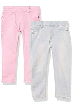 Amazon Amazon Essentials 2-Pack Girls Super-Stretch Woven Jeggings Jeans, Flieder/leichte Waschung