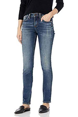 Silver Silver Jeans Co. Damen Avery Curvy Fit High Rise Slim Leg Jeans